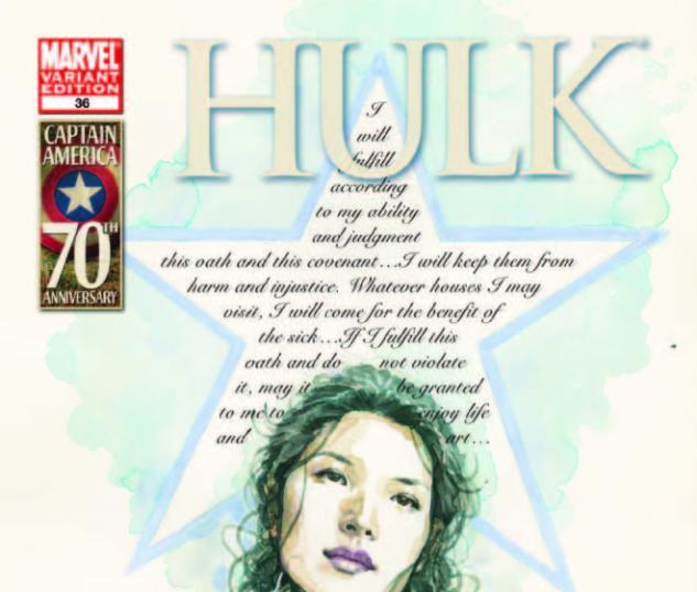 Hulk (2008) #36, I Am Captain America Variant