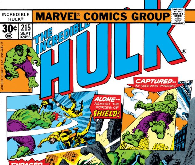 Incredible Hulk (1962) #215 Cover