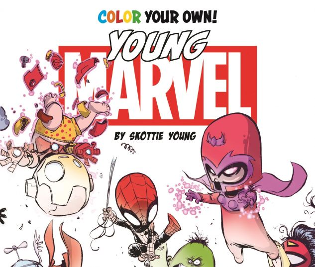 Color Your Own Young Marvel By Skottie Young Trade Paperback