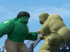 Hulk and Abomination slug it out in LEGO Marvel Super Heroes: Maximum Overload