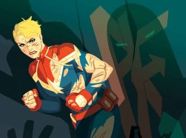 Captain Marvel: In Battle with Iron Man