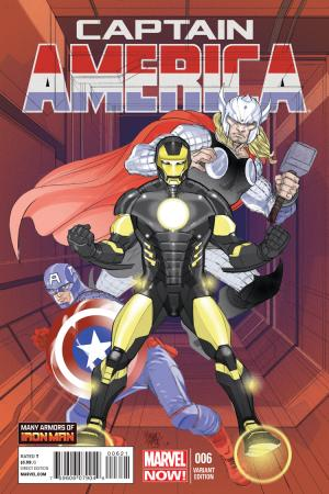 Captain America (2012) #6 (Ferry Iron Man Many Armors Variant)