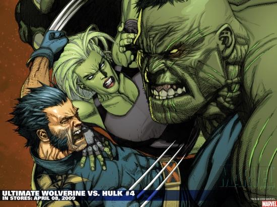 Ultimate Wolverine Vs. Hulk (2005) #4 Wallpaper