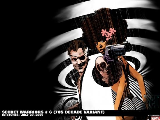 Secret Warriors 70s Decade variant cover by Tom Coker