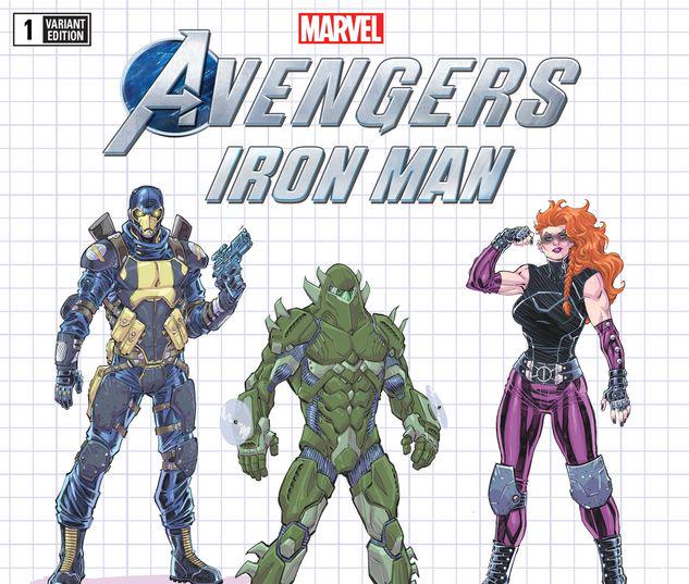MARVEL'S AVENGERS: IRON MAN 1 NAUCK VILLAINS DESIGN VARIANT #1