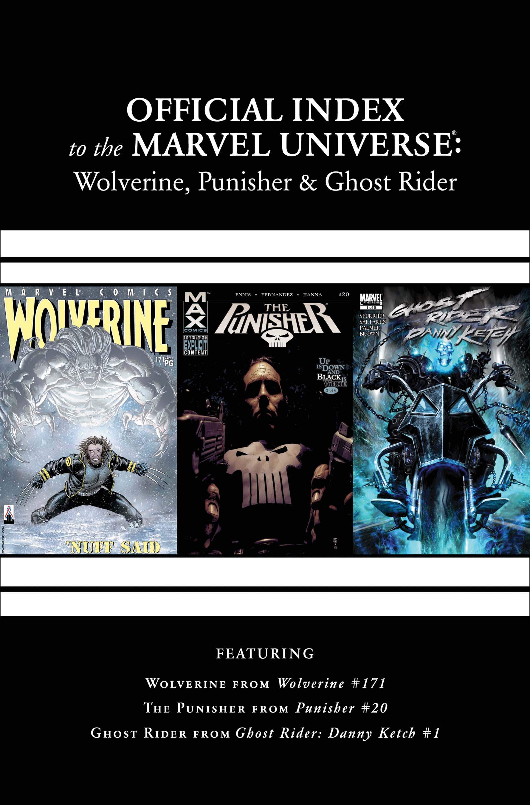 Wolverine, Punisher & Ghost Rider: Official Index to the Marvel Universe (2011) #6