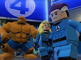The Fantastic Four in LEGO Marvel Super Heroes on the PlayStation 4