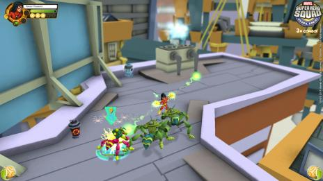 Screenshot of Spider-Woman from Super Hero Squad Online