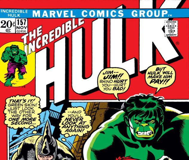 Incredible Hulk (1962) #157 Cover
