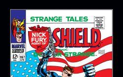 Strange Tales #167 cover art by Jim Steranko