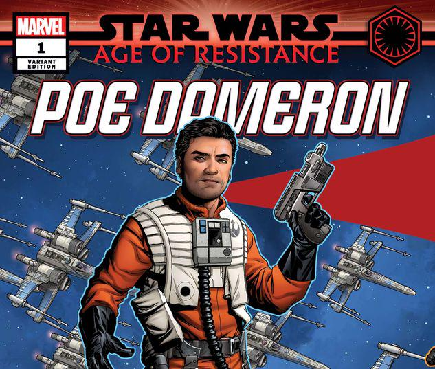 STAR WARS: AGE OF RESISTANCE - POE DAMERON 1 MCKONE PUZZLE PIECE VARIANT #1