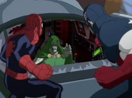 Spidey and Cap team up against Doctor Doom