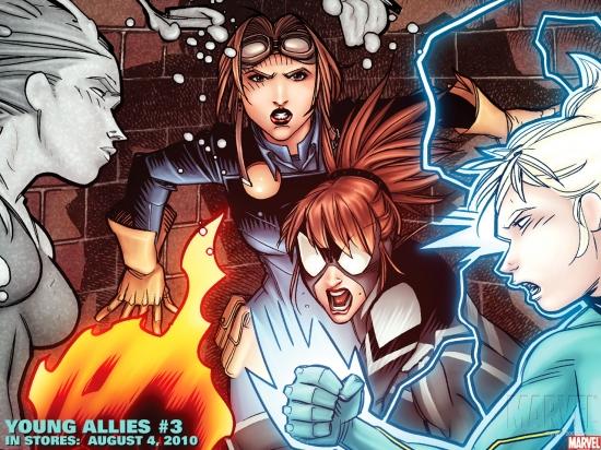 Young Allies (2010) #3 Wallpaper