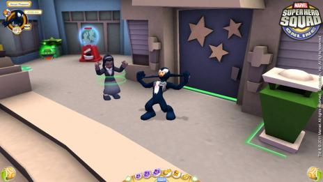 Screenshot of Black Suit Spider-Man from Super Hero Squad Online
