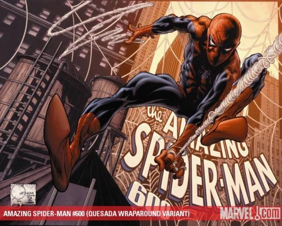 Amazing Spider-Man (1999) #600 (QUESADA WRAPAROUND VARIANT)