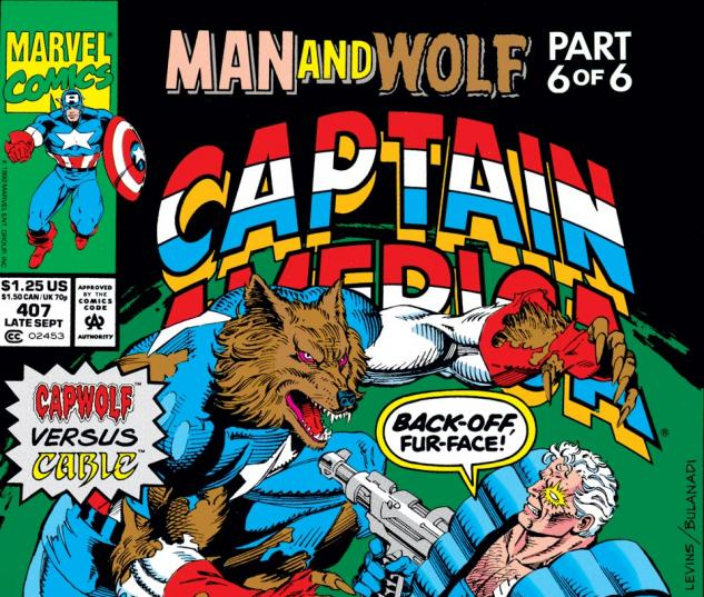 Captain America (1968) #407 Cover