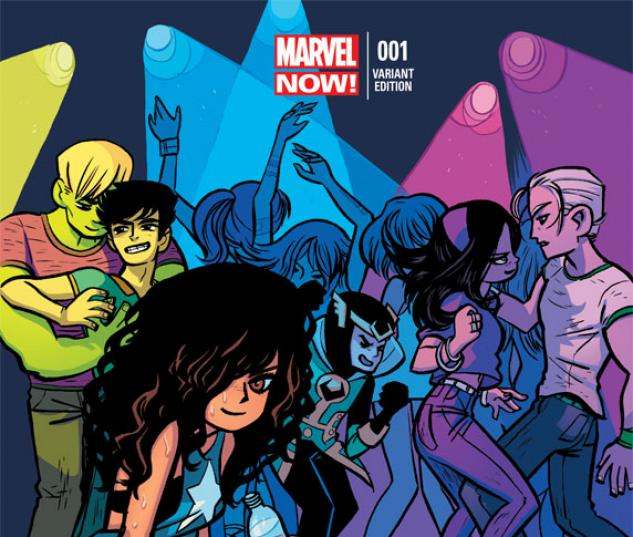 Young Avengers (2013) #1 variant cover by Bryan Lee O'Malley