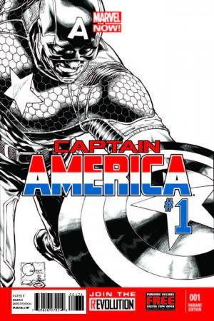 Captain America (2012) #1 (Quesada Sketch Variant)