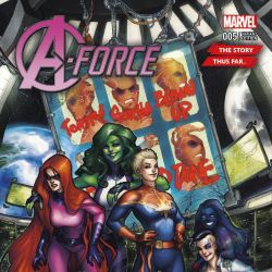 A-Force #5 Story Thus Far Variant by Meghan Hetrick