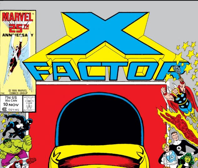 X-Factor (1986) #10 Cover