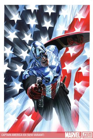 Captain America (2004) #34 (50/50 Ross Cover)