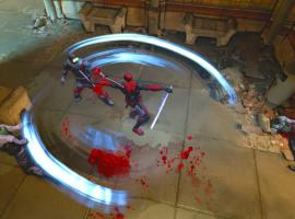 Deadpool does a 360 in the Deadpool video game