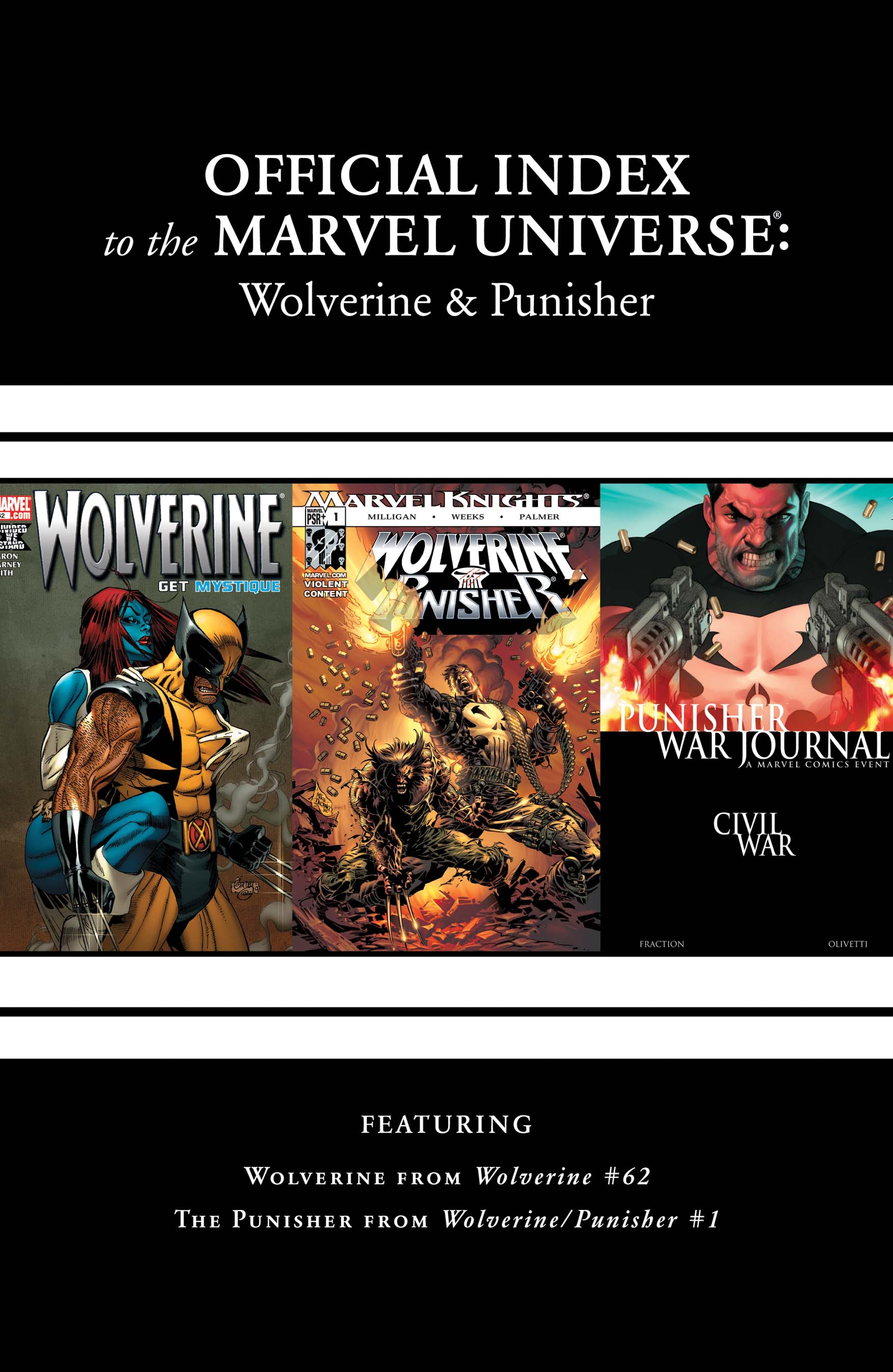 Wolverine, Punisher & Ghost Rider: Official Index to the Marvel Universe (2011) #7