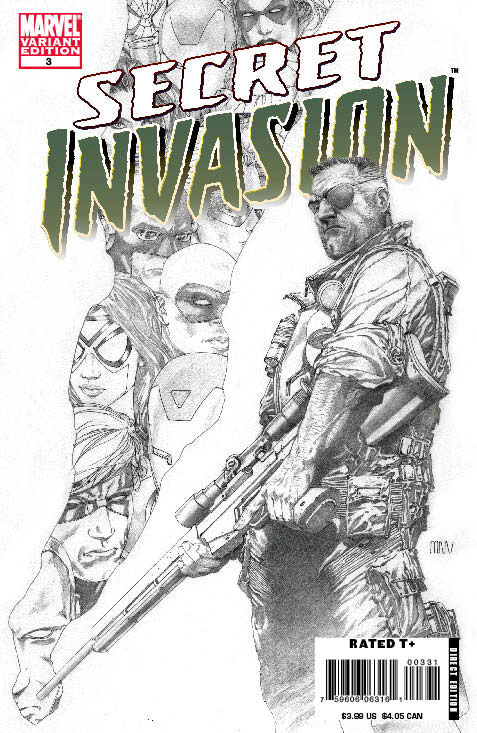 Secret Invasion (2008) #3 (SKETCH VARIANT)