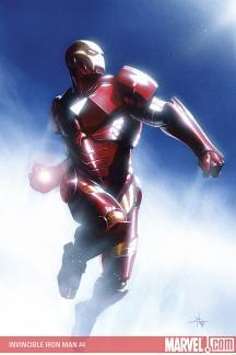 Invincible Iron Man #4  (DELL'OTTO (50/50 COVER))