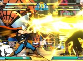 Screenshot of Thor vs. Dante from Marvel vs. Capcom 3