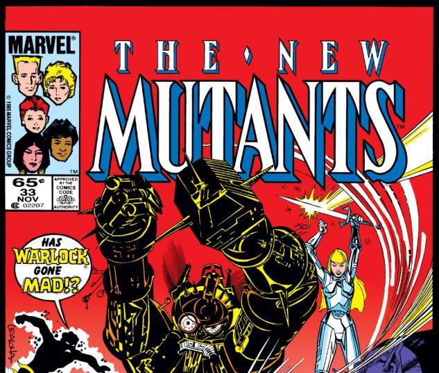 New Mutants (1983) #33 Cover