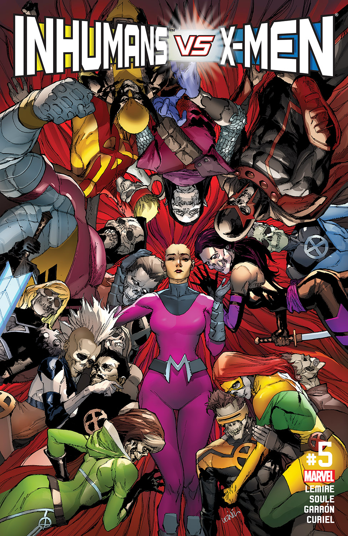 INHUMANS VS X-MEN #5 MARVEL COMICS APRIL 2017