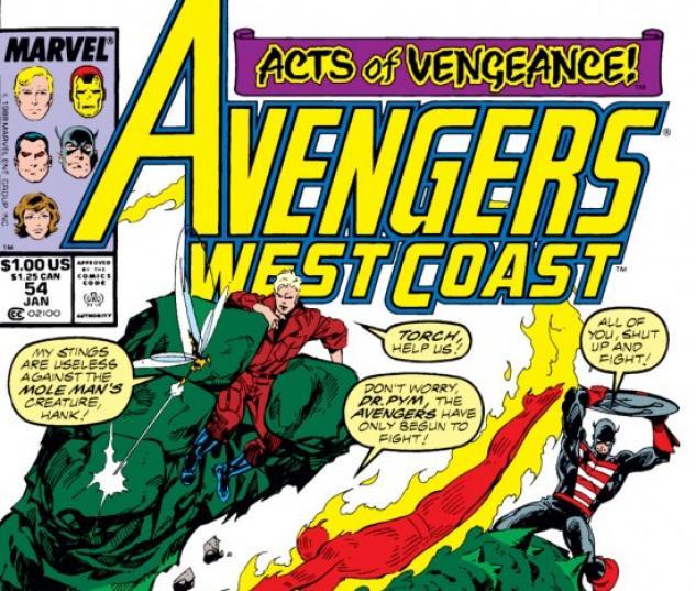Avengers West Coast #54 cover by John Byrne