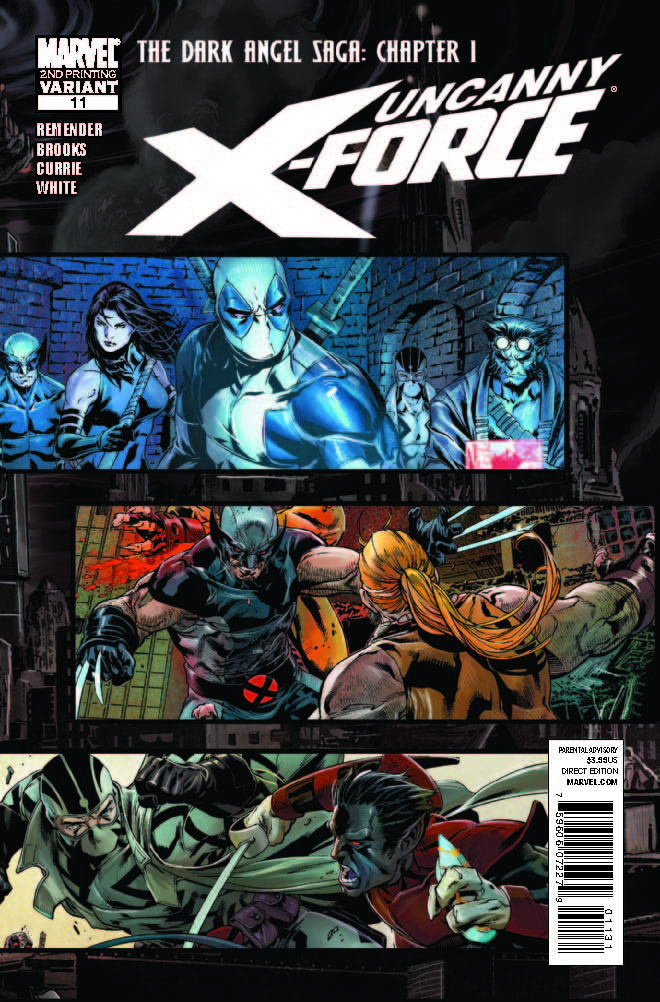 Uncanny X-Force (2010) #11 (2nd Printing Variant)