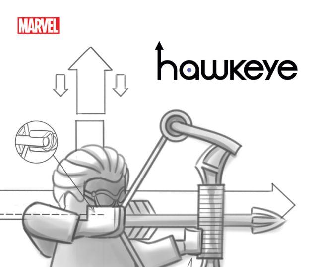 HAWKEYE 15 CASTELLANI LEGO SKETCH VARIANT