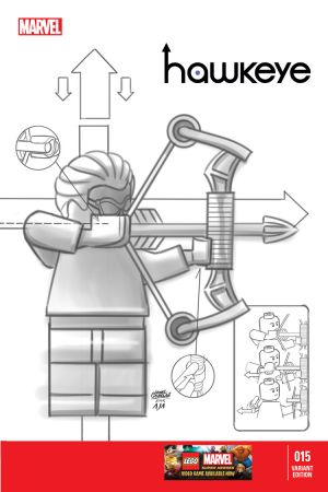 Hawkeye (2012) #15 (Castellani Lego Sketch Variant)