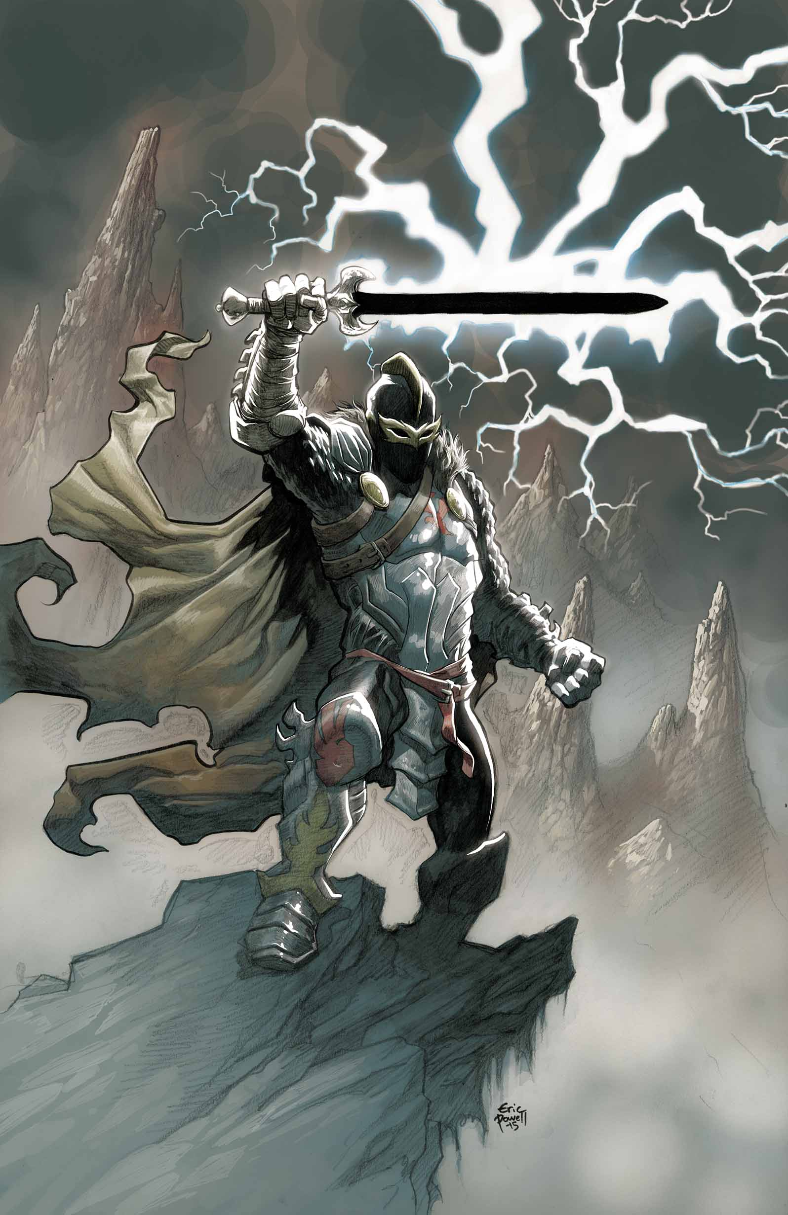 Black Knight (2015) #1 (Powell Variant)