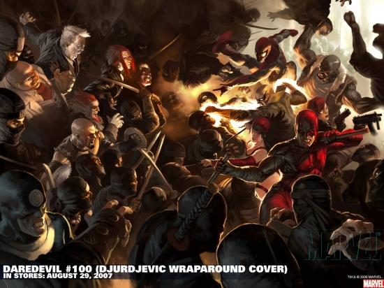 Daredevil #100 variant cover by Marko Djurdjevic
