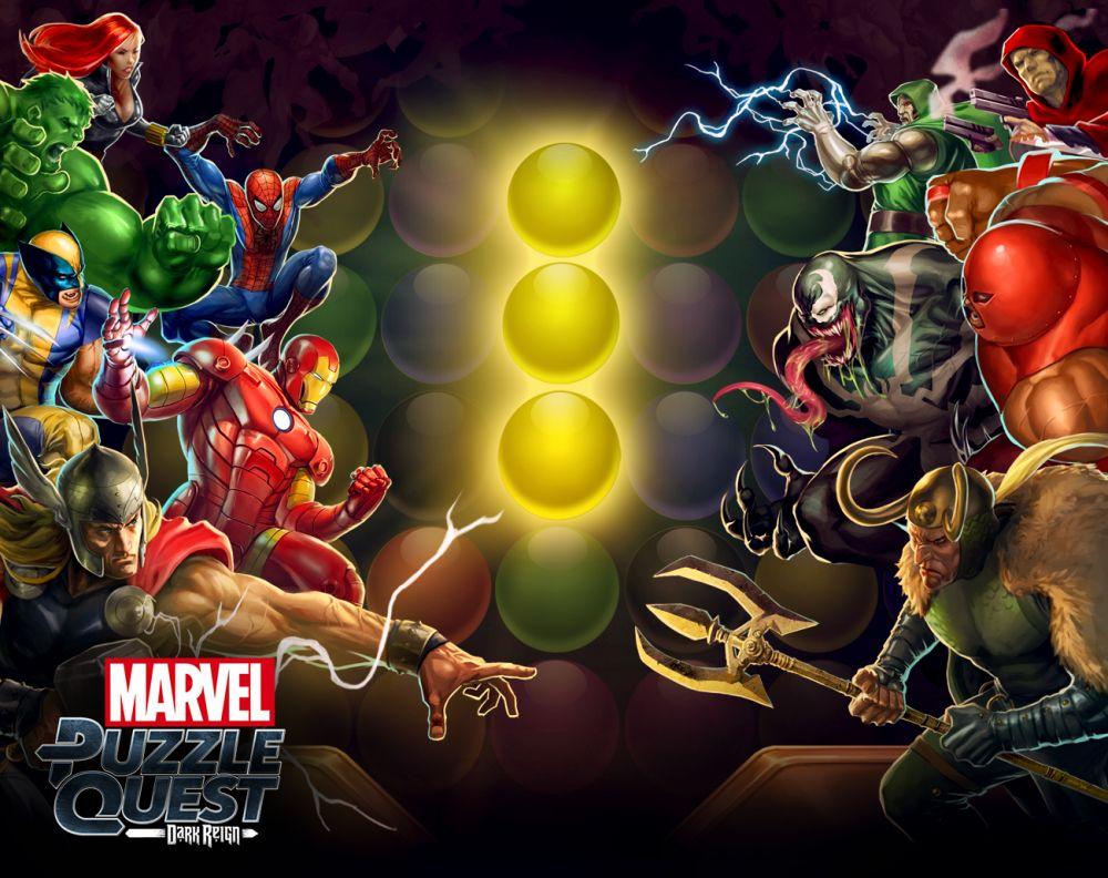 Marvel Puzzle Quest Dark Reign, I Super Eroi