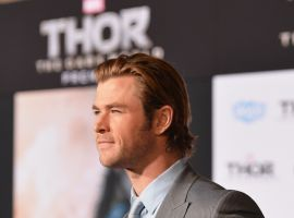 Chris Hemsworth (Thor) at the red carpet premiere of Marvel's Thor: The Dark World in Los Angeles