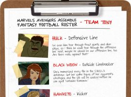 Marvel's Avengers Assemble Fantasy Football rosters