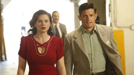 Hayley Atwell and Enver Gjokaj star as Peggy Carter and Daniel Sousa in Marvel's Agent Carter