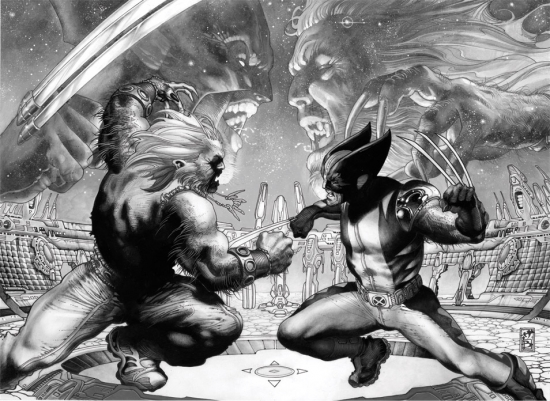 Wolverine (2003) #50 (Black and White Variant)