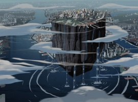 Graviton lifts Manhattan in The Avengers: Earth's Mightiest Heroes!