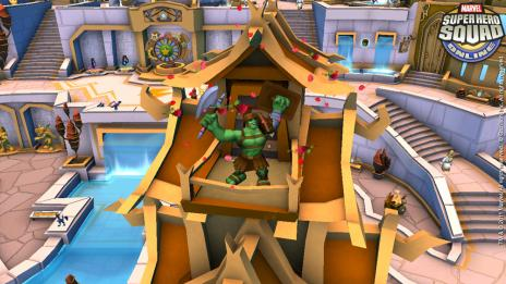 Screenshot of Gladiator Hulk from Super Hero Squad Online