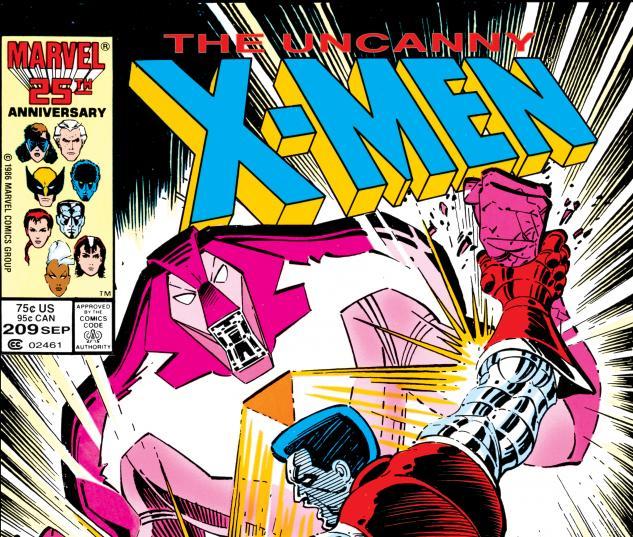 Uncanny X-Men (1963) #209 Cover