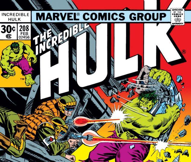 Incredible Hulk (1962) #208 Cover