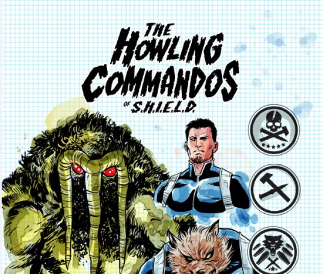 Howling Commandos of S.H.I.E.L.D. #1 variant art by Brent Schoonover