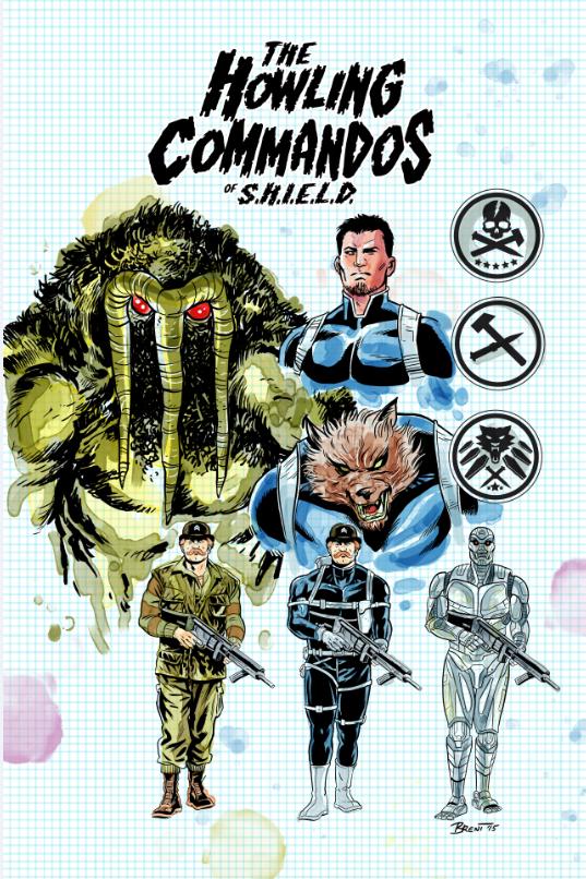 Howling Commandos of S.H.I.E.L.D. (2015) #1 (Schoonover Design Variant)
