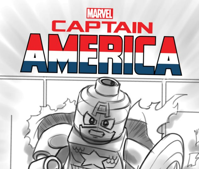 CAPTAIN AMERICA 12 CASTELLANI LEGO SKETCH VARIANT (NOW, WITH DIGITAL CODE)